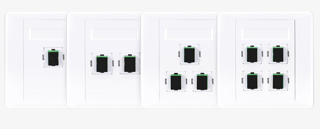 Fiber Optic Wall Plate Outlet with Adapter,